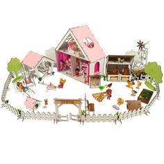 Акция на Кукольный Домик для кукол ЛОЛ + ферма + дворик с мебелью и текстилем LITTLE FUN 40х20х40 см (2123) от Allo UA