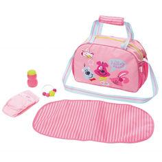 Акция на Детская Игровая Сумка для Куклы Мамина забота с аксессуарами розовая Беби Борн Baby Born Zapf Creation от Allo UA