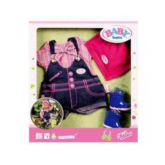 Акция на Детский Игровой Набор Комплект джинсовой одежды Делюкс для Беби Бон 43 см Baby Born 4 предмета Zapf Creation от Allo UA