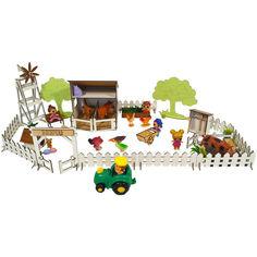 Акция на Кукольная мебель, игровой набор Веселое Ранчо. Мебель для кукол до 20 см (1201) от Allo UA