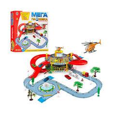 Акция на Детский Игровой Набор для мальчиков Паркинг Гараж Мега Парковка 2 этажа, вертолет, машинка, аксесс. арт. 922-9 от Allo UA