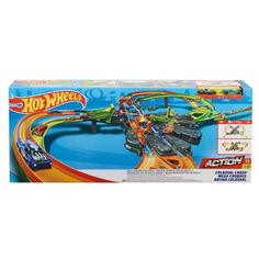 Акция на Детский Игровой набор Хот Вилс Конструктор трасс Грандиозные столкновения на несколько машин Hot Wheels Mattel от Allo UA