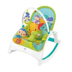 Акция на Детское Портативное Кресло-Шезлонг 3в1 Тропический лес с легкой вибрацией, съемной дугой Fisher Price от Allo UA