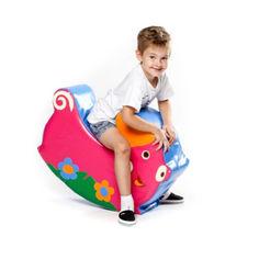 Акция на Мягкий игровой детский модуль-качалка для одного ребенка от 1 года для квартиры, дома, дачи Свинка 70х50х23 см от Allo UA