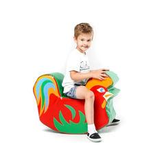 Акция на Мягкий игровой модуль-качалка для одного ребенка от 1 года для квартиры, детского сада, дачи Петух 70х50х23 см от Allo UA