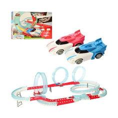 Акция на Детский Игровой Набор для мальчиков Трек с двумя машинками на батарейках, 83 детали, 110х61х26 см, арт. 3305 от Allo UA