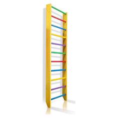 Акция на Спортивная Шведская стенка деревянная для дома, квартиры 240х80 см разноцветная - 0-240 (yellow) от Allo UA