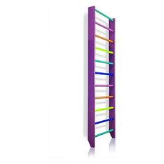 Акция на Спортивная Шведская стенка деревянная для дома, квартиры 240х80 см разноцветная - 0-240 (purple) от Allo UA