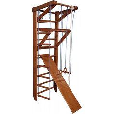 Акция на Детская шведская спортивная стенка, спортивный комплекс уголок, турник-рукоход, кольца, лестница, 220х80 см О3-220 от Allo UA
