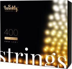 Акция на Светодиодная Smart LED гирлянда Twinkly Strings AWW 400, BT+WiFi, Gen II, IP44, кабель черный (TWS400GOP-BEU) от Rozetka