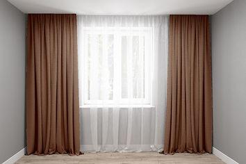 Акция на Комплект штор Декор-Ин Микровелюр Светло-коричневых 250х200 2 шт (Vi 101030) (ROZ6400050780) от Rozetka