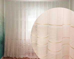 Акция на Тюль Декор-Ин Лен Скарлайн с мережкой и атласной полосой Молочный с бежевым 280х800 (Vi 100813) (ROZ6400051031) от Rozetka