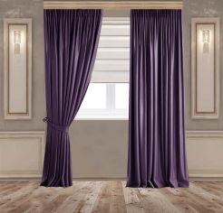 Акция на Комплект штор Декор-Ин Бархатные 245x250 см 2 шт Темно-фиолетовые (Vi 101767) от Rozetka