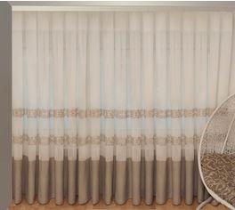 Акция на Тюль Декор-Ин Барселона Бежево-кремовый с вышивкой на льне 280х700 (Vi 100048) (ROZ6400050243) от Rozetka