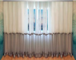 Акция на Тюль Декор-Ин Домино Микросетка Бело-серый 255х500 (Vi 200022) от Rozetka