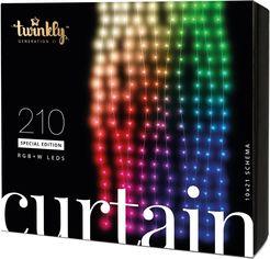 Акция на Светодиодная Smart LED гирлянда Twinkly Curtain,Wall RGBW 210, BT+WiFi, Gen II, IP44 кабель прозрачный (TWW210SPP-TEU) от Rozetka