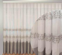 Акция на Тюль Декор-Ин Барселона Бело-серый с вышивкой на льне 245х800 (Vi 100111) (ROZ6400050306) от Rozetka