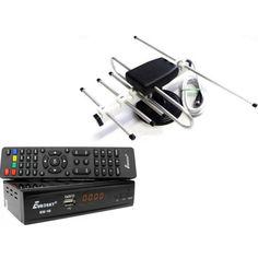 Акция на Комплект Цифрового Т2 телевидения (тюнер Eurosky ES-18 + Антенна для Т2 комнатная Волна-2 с ТВ-кабелем) от Allo UA