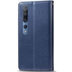 Акция на Кожаный чехол книжка GETMAN Gallant (PU) для Xiaomi Mi 10 / Mi 10 Pro Синий от Allo UA