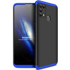 Акция на Пластиковая накладка GKK LikGus 360 градусов (opp) для Samsung Galaxy M31 Черный / Синий от Allo UA