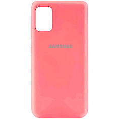 Акция на Чехол Silicone Cover My Color Full Protective (A) для Samsung Galaxy A41 Розовый / Peach от Allo UA