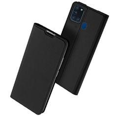 Акция на Чехол-книжка Dux Ducis с карманом для визиток для Samsung Galaxy A21s Черный от Allo UA