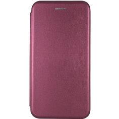Акция на Кожаный чехол (книжка) Classy для Samsung Galaxy A21s Бордовый от Allo UA