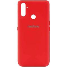 Акция на Чехол Silicone Cover My Color Full Protective (A) для Realme C3 Красный / Red от Allo UA