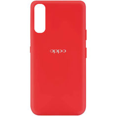 Акция на Чехол Silicone Cover My Color Full Protective (A) для Oppo Find X2 Красный / Red от Allo UA