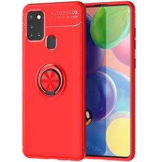 Акция на TPU чехол Deen ColorRing под магнитный держатель (opp) для Samsung Galaxy A21s Красный / Красный от Allo UA