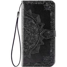Акция на Кожаный чехол (книжка) Art Case с визитницей для Realme XT Черный от Allo UA