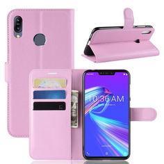Акция на Чехол-книжка Litchie Wallet для Asus Zenfone Max M2 Светло-розовый от Allo UA