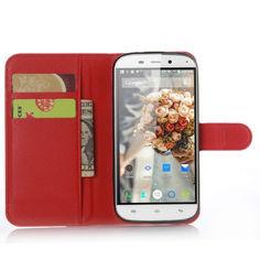 Акция на Чехол-книжка Litchie Wallet для Doogee Y100X Nova Красный от Allo UA