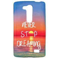 Акция на Чехол с рисунком Printed Silicone для LG L Fino Dual D295 Never Stop Dreaming от Allo UA