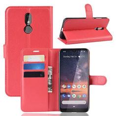 Акция на Чехол-книжка Litchie Wallet для Nokia 3.2 Red от Allo UA