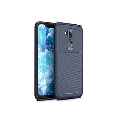 Акция на Чехол Carbon Case Nokia 7.1 Plus / X7 / 8.1 Синий от Allo UA
