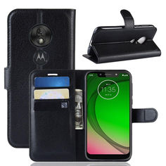 Акция на Чехол-книжка Litchie Wallet для Motorola Moto G7 Play Black от Allo UA