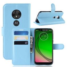 Акция на Чехол-книжка Litchie Wallet для Motorola Moto G7 Play Blue от Allo UA