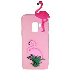 Акция на Чехол Cartoon 3D Case для Samsung A730 Galaxy A8 Plus 2018 Фламинго от Allo UA