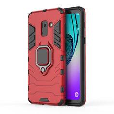 Акция на Чехол Ring Armor для Samsung A730 Galaxy A8+ 2018 Красный от Allo UA