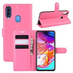 Акция на Чехол-книжка Litchie Wallet для Samsung A207 Galaxy A20s Rose от Allo UA
