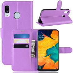 Акция на Чехол-книжка Litchie Wallet для Samsung Galaxy A20 / Galaxy A30 Фиолетовый от Allo UA