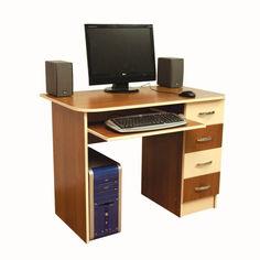 Акция на Компьютерный стол Ника 19 Ника Мебель Орех лесной + Кремовый от Allo UA