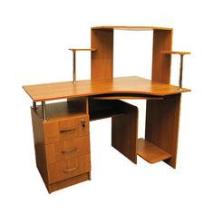 Акция на Компьютерный стол Ника 4 Ника Мебель Ольха Горная темная от Allo UA