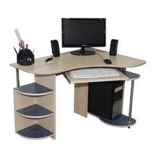 Акция на Компьютерный стол Клио Ника Мебель Дуб Молочный + Синий от Allo UA