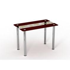 Акция на Обеденный стол Sentenzo Китайский шелк Бардовый 90х65 от Allo UA