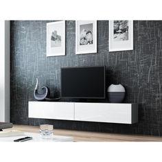 Акция на Тумба под ТВ подвесная Vigo 180 Cama Серый матовый + Белый глянец от Allo UA