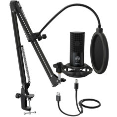 Акция на Микрофон FIFINE T669 USB Microphone Black от Foxtrot