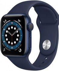 Apple Watch Series 6 44mm GPS+LTE Blue Aluminum Case with Deep Navy Sport Band (M07J3) от Y.UA
