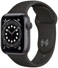 Apple Watch Series 6 44mm GPS+LTE Space Gray Aluminum Case with Black Sport Band (M07H3) от Stylus